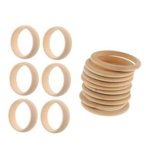 Image 5 - 16 Pieces Unfinished Natural Wooden Wood Blank Bangle Bracelet DIY, 8mm, 22mm Wide