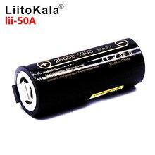 Liitokala Lii-50A 26650 bateria de lítio 5000 mah, 3.7 v 5000 mah, bateria recarregável 26650, adequado 26650-50a + diy níquel sh