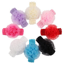 High Recommend Buy direct from China Kids Girls Lace Flower Hairband Elastic Headband hair accessories for girls coroa de flores(China)