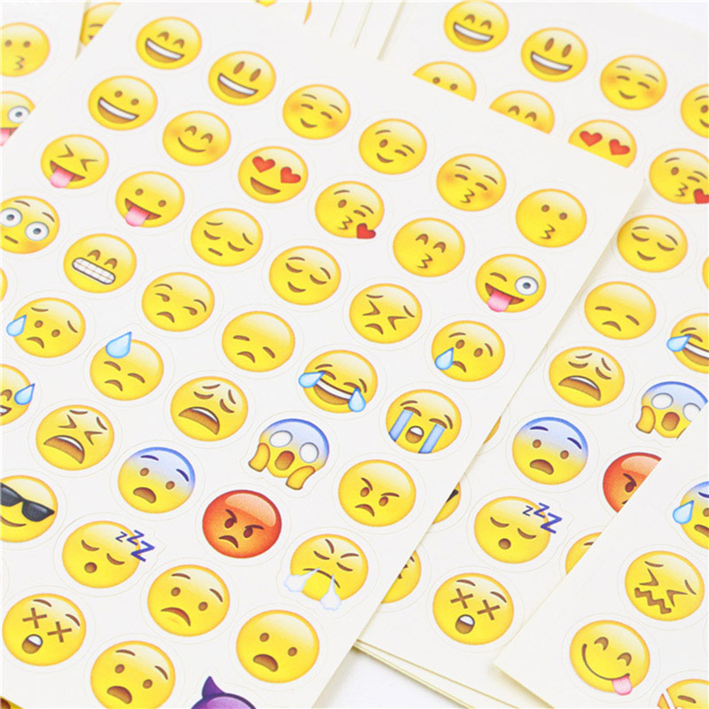 DIY Cute Kawaii Paper Stickers Creative Emoji Expression Sticky Paper For Diary Scrapbooking Photo Album Stationery Stickers 1pcs alphabet transparent silicone clear rubber stamp cling diary scrapbooking diy making photo album paper card craft decor