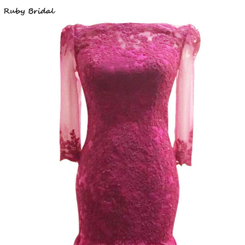 Rubí nupcial vestido de festa largo Vestidos de noche Rosa tulle ...