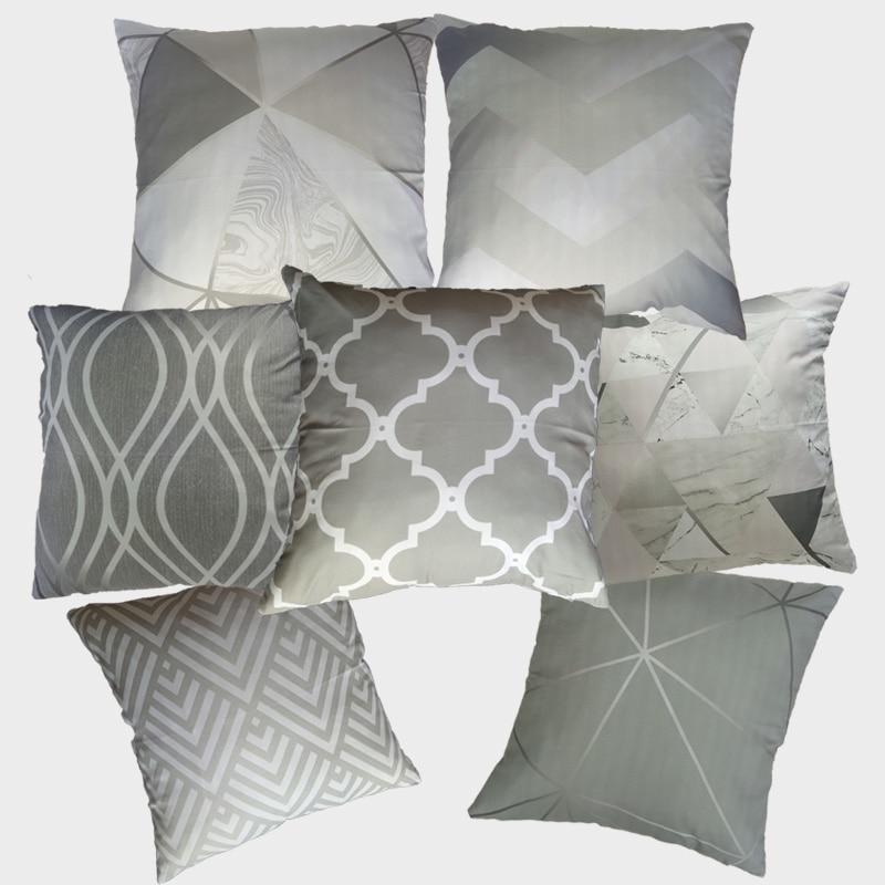 Grey Cushion Cover Pillow Case Cushions Home Decor Decoration Nordic Decorative Pillows Cojines Decorativos Para Sof 10068