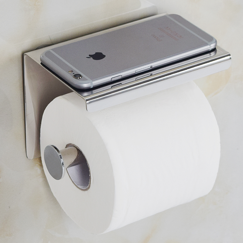 Toilet Paper Holder Stainless Steel Wall Mounted Double Toilet Paper ...