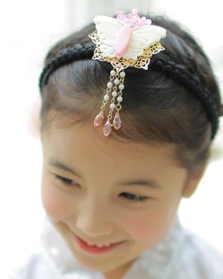 Multi Designs Shell Flower Head Veil Headband Imported Traditional Korea Little Girls' Hair Clip Hair Accessory Hair Band bebe confort клипса для пустышки 2 шт