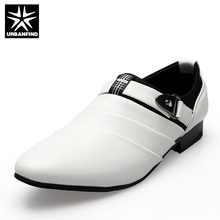 Горячие Продажа Новые Мужчины Оксфорды Обувь Белый PU Кожаные Oxfords Обувь для Мужчины Платье Квартиры Обувь 2016 Мода Свадебная Обувь Размер 39-44