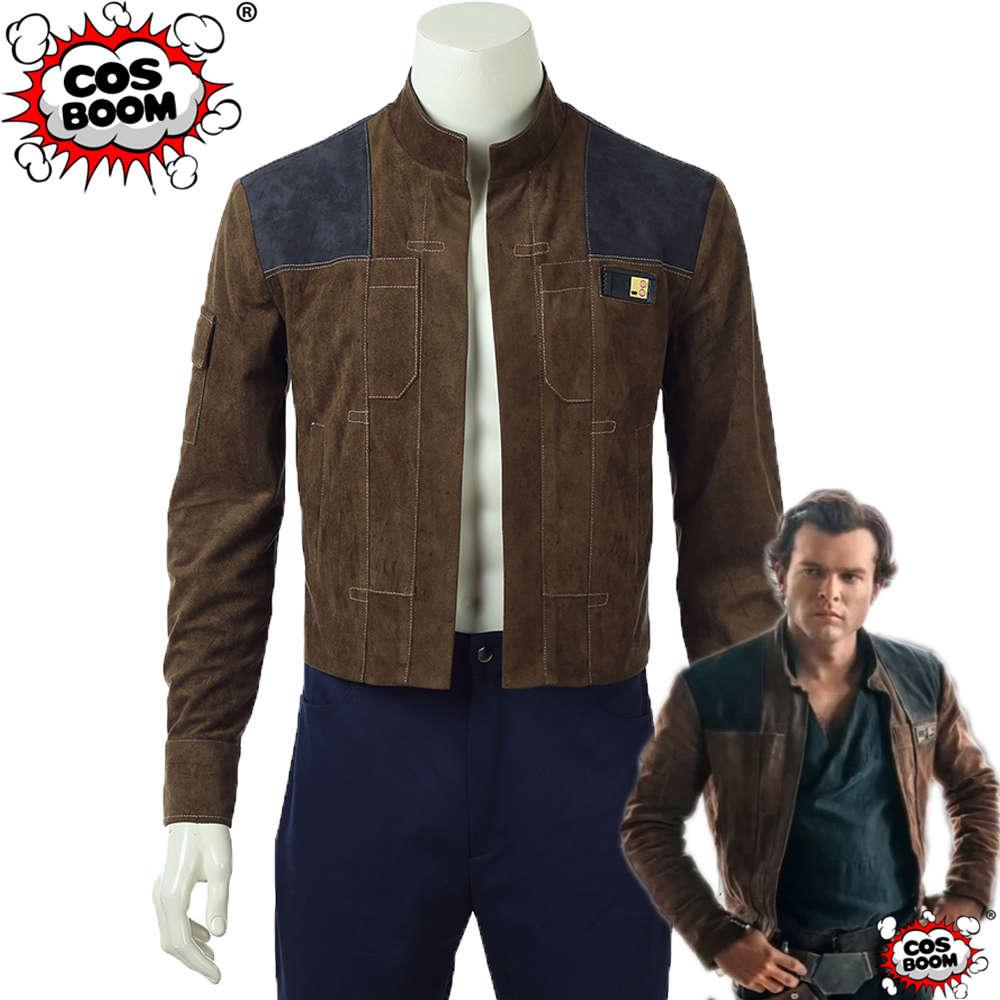 COSBOOM Solo A Star Wars Story Han Solo Jacket Adult Men's