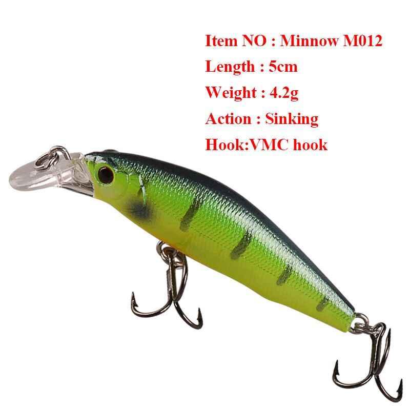 Smart Minnow Leurre de pêche 5 cm 4.2g naufrage appât Dur 3D yeux Iscas Artificiais Para Pesca Leurre Dur pêche carpe matériel de pêche