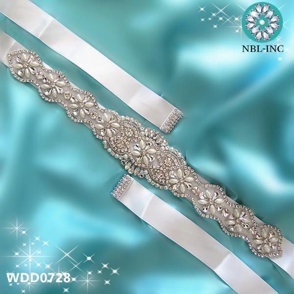(30pcs)Wholesale handmade beaded bridal wedding sash crystal rhinestone appliques for wedding evening dress belt WDD0728