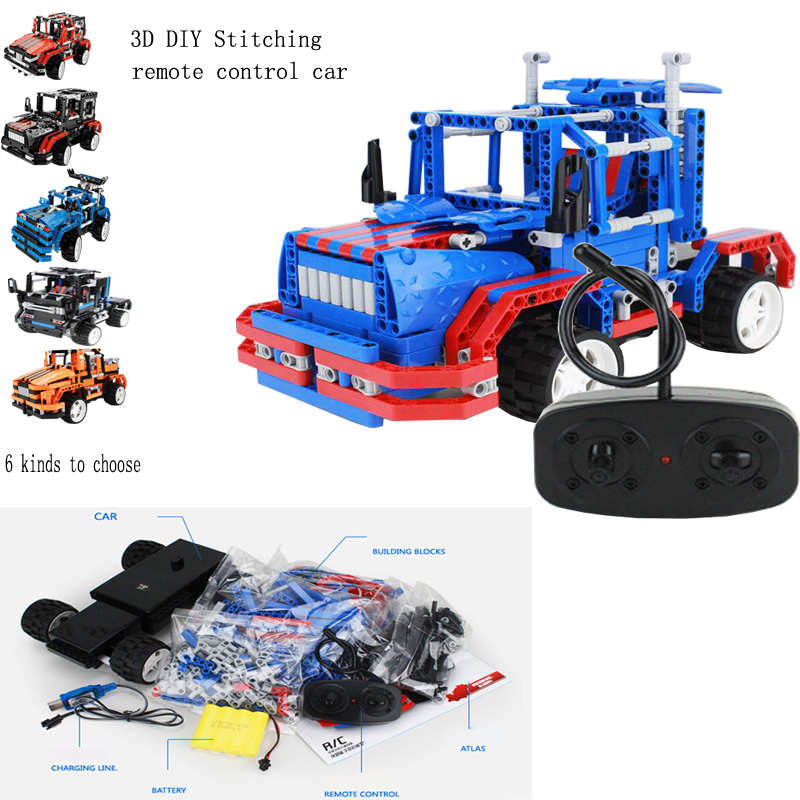 New DIY Building Blocks Remote Control Car Educational Children 's Toys For Birthday Christmas Party Gift Building Blocks new arrival super wings plane base assembly building blocks educational diy models toys birthday christmas gift for kids