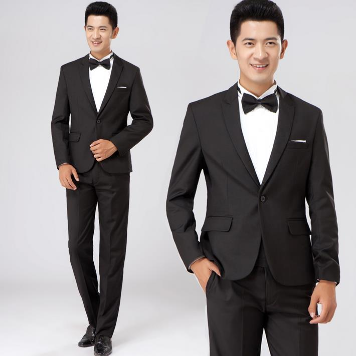 Black And White Slim Fit Suits | My Dress Tip