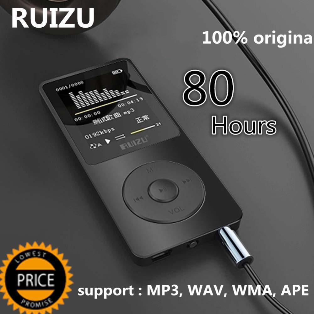 Ruizu X02 Portable Digital Sport Screen Hifi Audio Mp 3 Mini Music Mp3 Player 8/16GB FM Radio With Flac Card LCD Running Lossles