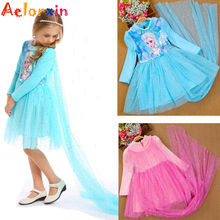 Winter Children Clothing Girl Dresses Anna Elsa Princess Dress for Infant Kids Costume Party Wedding Bridesmaid Clothes Vestidos