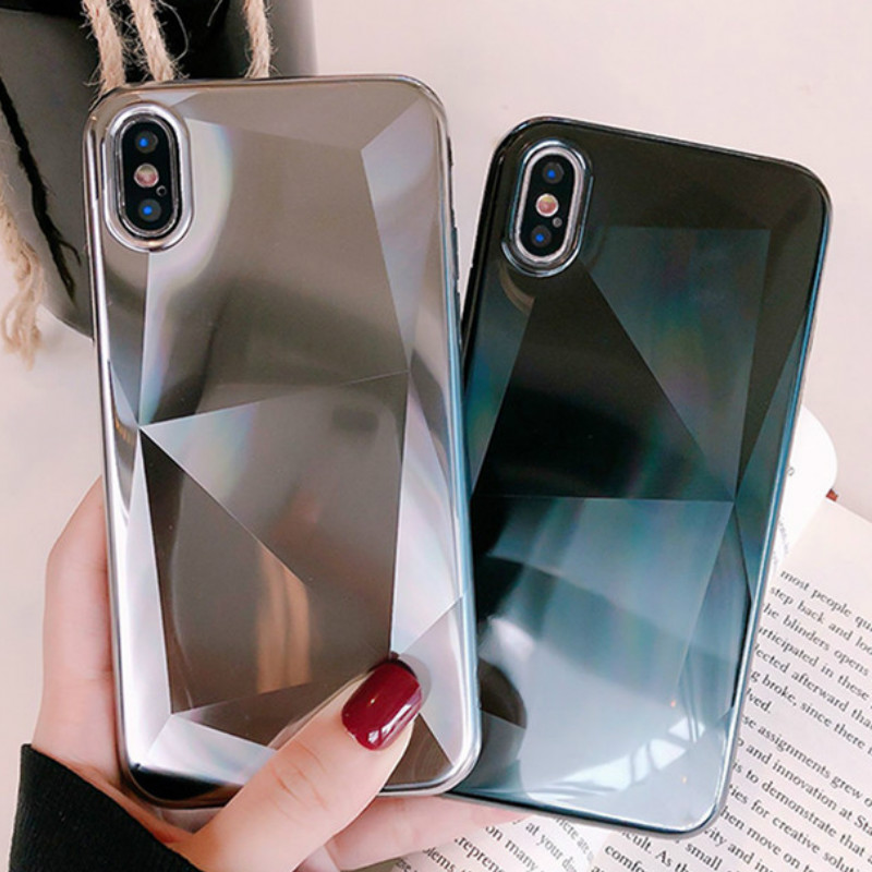Competent For Iphone 7 7 Plus Luxury 3d Diamond Texture Pattern Phone Case For Iphone 6 6s 8 8 X Xr Xs Max Soft Silicone Ultra Thin Cover