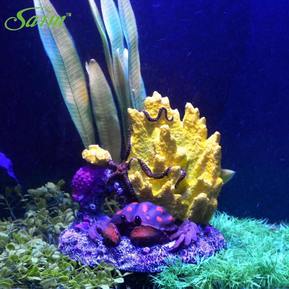 Artificial Crab And Coral Reef Aquarium Aquarium Fish