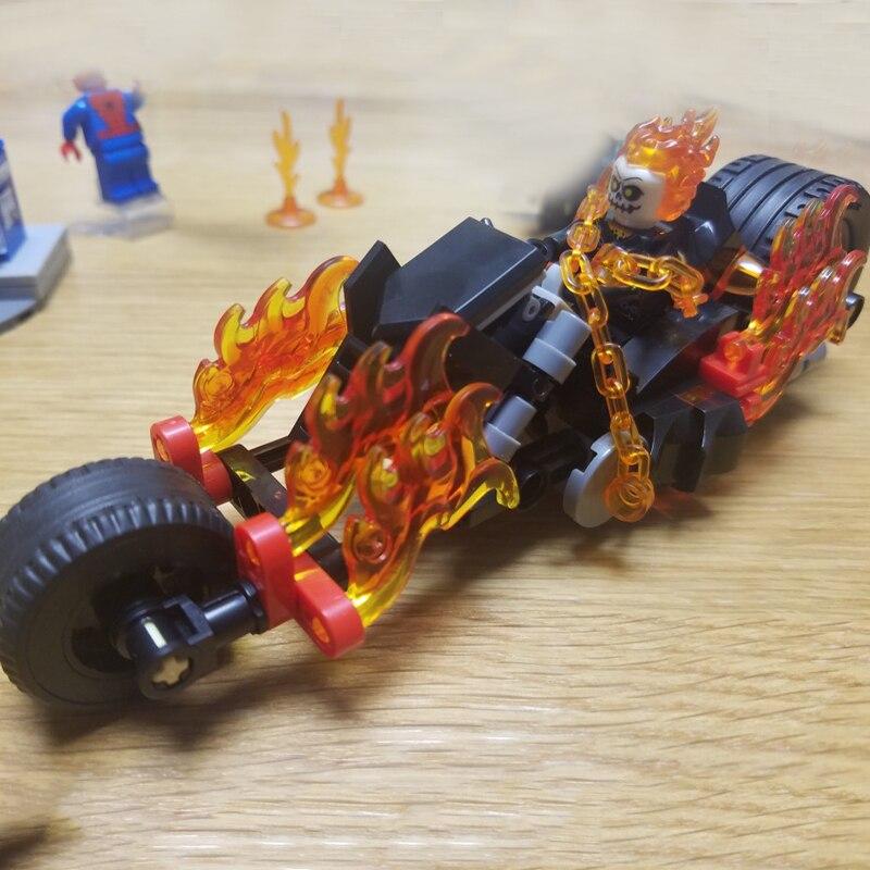 Image 4 - Spider Man Super Heroe 248pcs Spider Man Ghost Rider Team UP Moto Hobgoblin set compatibile 76058 giocattolo del capretto nuovoBlocchi   -