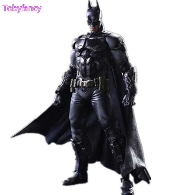 Batman Play Arts Kai Arkham Action Figure Catwoman Joker Toy PVC 260mm Anime Model Bat Man Playarts Kai Figurine spiderman action figure play arts kai spider man 250mm evil version anime superhero playarts spider man model toy