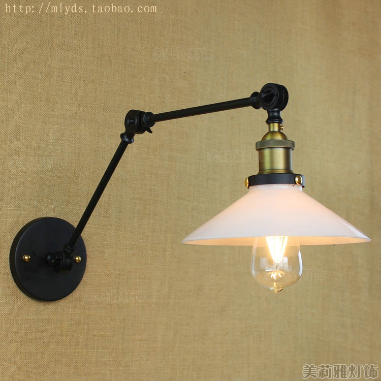 IWHD Loft Style Vintage Wall Light Fixtures Retro Swing Long Arm Wall Lamp Industrial Sconce Appliques Murle LED led adjustable swing arm lamp vintage wall light fixtures edison retro loft style industrial wall sconce appliques murale