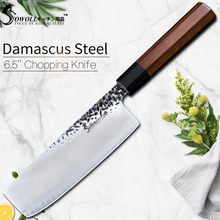 Sowoll Handmade Forged Chopping Knife VG10 Damascus Steel Kitchen Knife Santoku Japanese Chef Knife Hammer Damascus Cook Tools psrk very sharp mini handmade forged damascus steel high quality steel hunting knife edc tools with excellent leather sheat