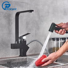 Tap Kitchen-Sink-Faucet Hot-And-Cold-Water-Mixer Bidet-Sprayer Black Poiqihy with Painting