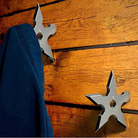 Hot new gadget stainless steel clothes hook Star Dart Shape wall hook organizer metal hooks for hanging coat clothes home decor