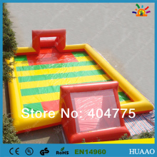 2014 hot sale inflatable soap football pitch with free CE/UL blower and repair kit shipping by air express to door