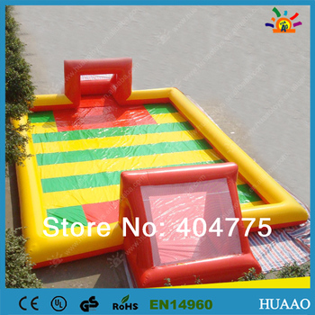 цена на 2018 hot sale inflatable soap football pitch with free CE/UL blower and repair kit and free shipping by air express to door