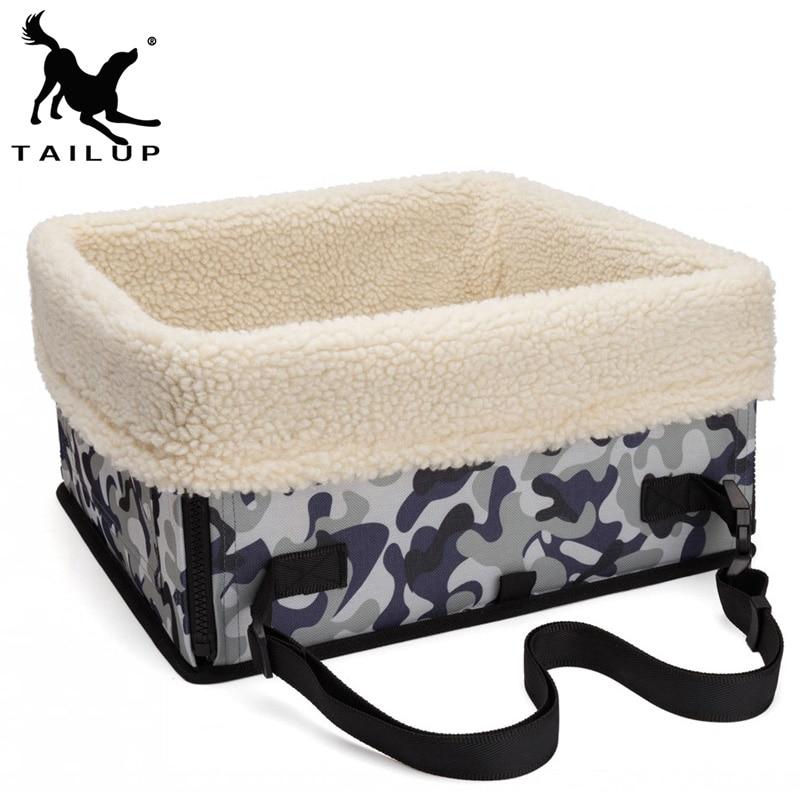 [TAILUP] 개 캐리어에 대한 Foldable 독 백 자동차 좌석 고양이 캐리어 강아지 애완 동물 크리스마스 개 고양이 개 가방 안전 자동차 용품 py0019