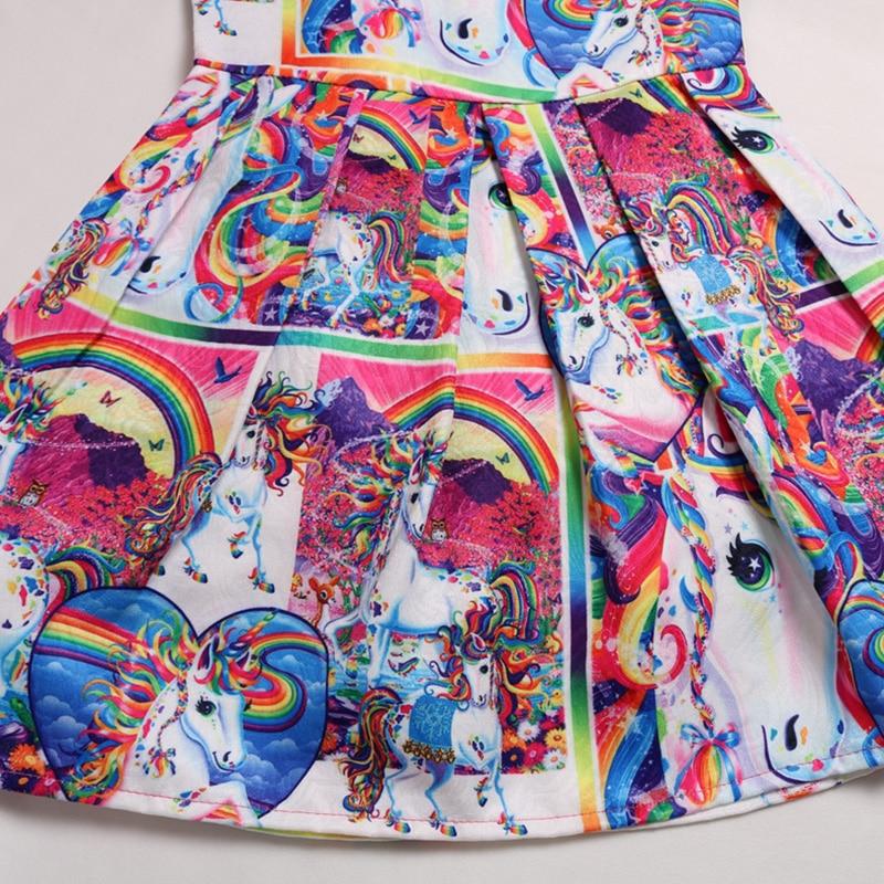 2019 Summer Toddler Dress Girls Sleeveless Unicorn Print Clothes Kids Pretty Princess Dress in Dresses from Mother Kids