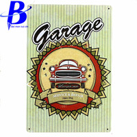Vintage Metal Signs Garage Coffee Store Bar Metal Home Decoration Crafts 20x30cm Tin Signs Metal Painting
