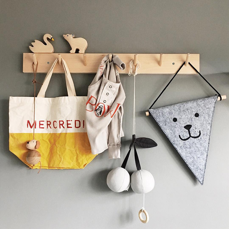 Nordic Popular Natural Wooden Hooks For Kids Room Hooks Wood For Room Hooks Hangers Wooden  Home Decorations Wall Hooks Decor