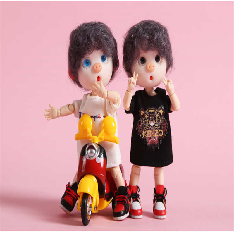 Cataleya Pig Sister 1/12 BJD Trend Short-sleeved T-shirt For Doll Ob11 Baby Clothes Underwear