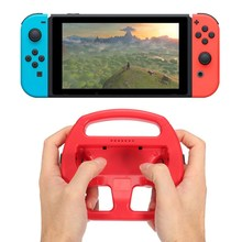 2 In 1 Red For Nintend Switch Gaming Handle Grip For Joy Con Controller Racing Steering