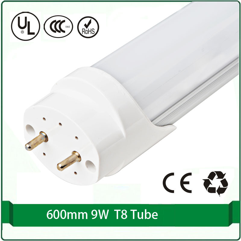 free shipping 1pcs led t8 tube 60cm 9W watts led light led lights in tube led fluorescent tube lights ультрафиолетовая лампа philips tl d18 08 60cm tube t8