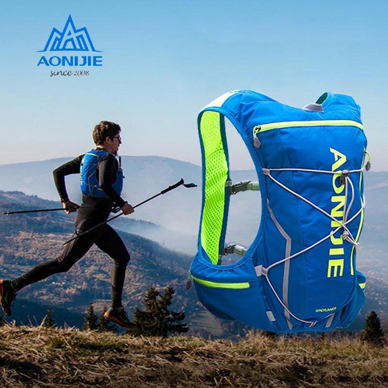 AONIJIE poêle à charbon Nylon sacs de plein air randonnée sac à dos gilet professionnel Marathon cyclisme sac à dos 2L sac à eau sacs de course