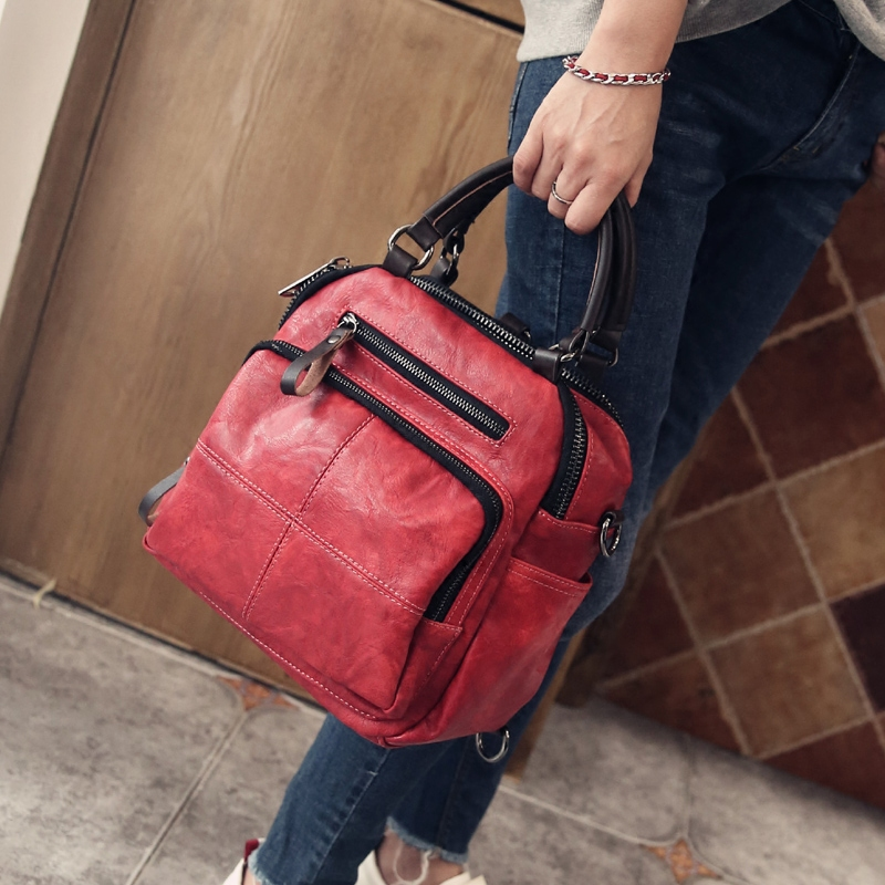 Women Real Split Suede Leather Shoulder Bag Female Leisure Casual Handbags Messenger Top-handle bags Travel Back Packs ...