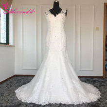 Alexzendra Custom Made Mermaid Wedding Dresses V-Neck