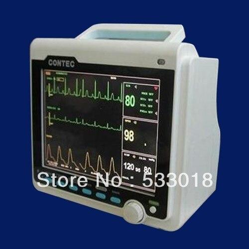 2018 New Veterinary Patient Monitor, VET Use ECG NIBP SPO2 Temperature, Respiration, Pulse Rate Monitor