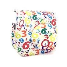 Números Imediata Da Câmera de Couro PU Ombro único Bag Protector Case Capa Bolsa para Fuji Instax Mini 8 8 + 9 câmera
