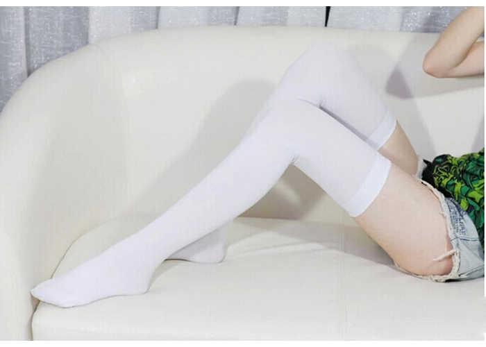 KANCOOLD แฟชั่นผู้หญิง Ladies ล่อไนลอนยืดเข่า Sheer ต้นขาสูงถุงน่องไนท์คลับ Dropshipping PJ0803