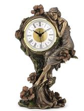head Arts Crafts deer  The art series cold casting copper process European beauty and the poppy flower quartz clock home ac