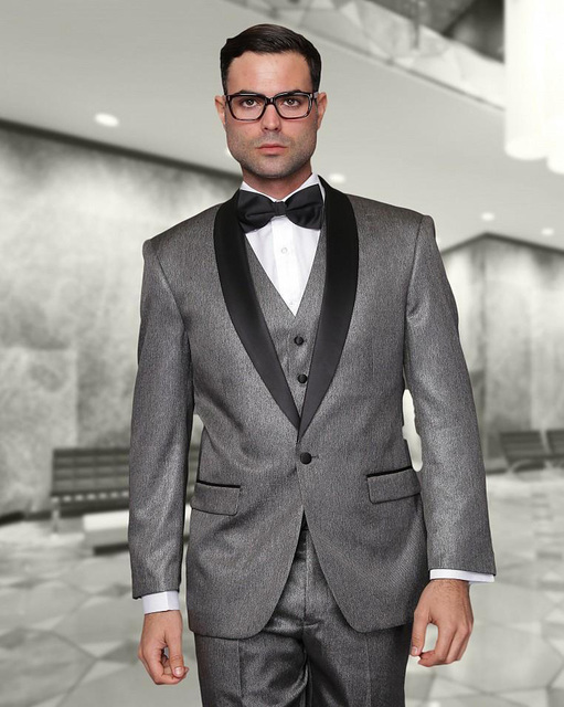 2018 New Arrival Grey Wedding Tuxedos mens suits Cheap Jacket+ ...