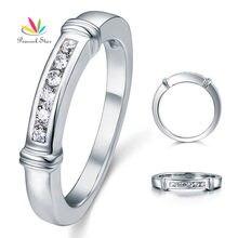 Peacock Star sólido 925 plata esterlina anillo de boda joyería CFR8044