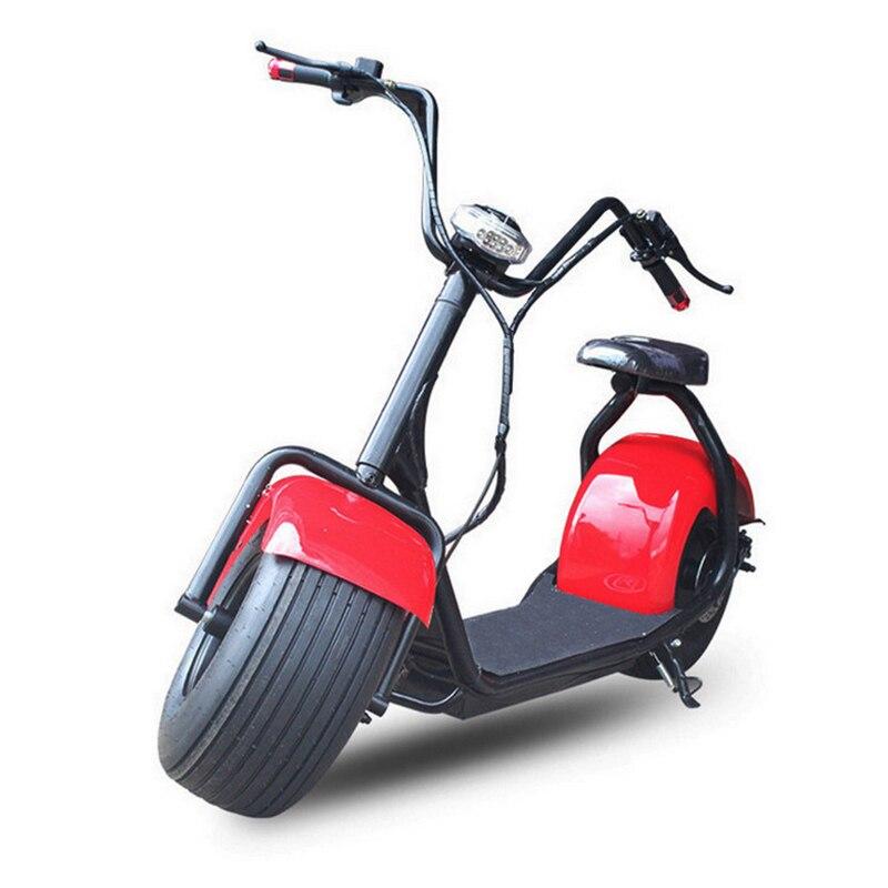 Nouveau produit de technologie d'innovation grand scooter électrique citycoco 1000 W 60 V à deux roues, moto électrique