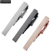 HAWSON Brand Fashion Luxury Tie Clip for Men 3 Colors Metal Silver Gold Simple Necktie Tie Bar Clasp Clip for 1.57 Inch