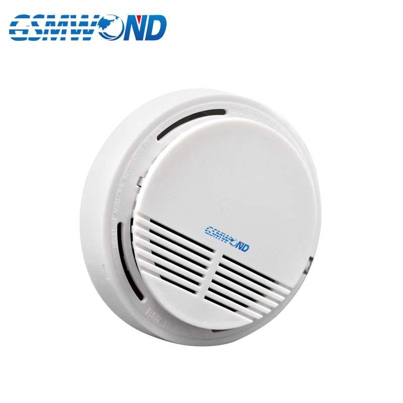 New Wireless Smoke Detector Fire Alarm 433MHz For Home Burglar GSM Alarm System For Home Alarm System