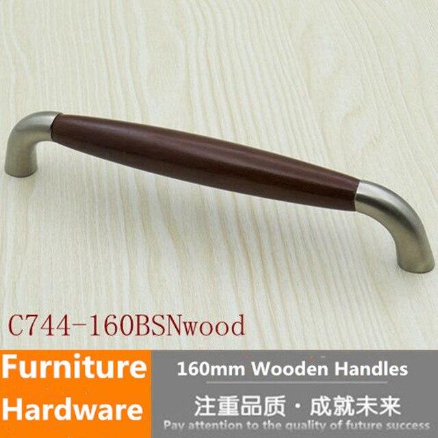 160mm moderne mode amerikanische möbel griff holz küchenschrank pull ...