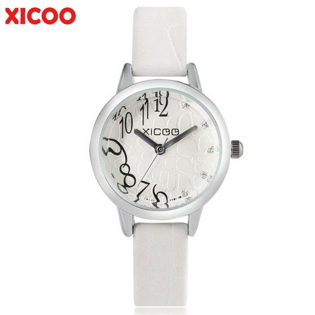 Weibliche Uhr 2017 Zahlen Xicoo Dame Uhren Frauen Armbanduhr In Einfache Lederband Gesicht 652017 Top Studenten Moderne Halbe Quarzuhr Casual Us11 sQCxhrdt