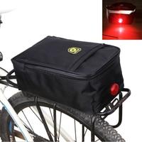 Lamp bag bike rear Reflective waterproof cycling tail bags Bicycle Rack Pannier Rear Seat bike frame pouch b soul cycling basket