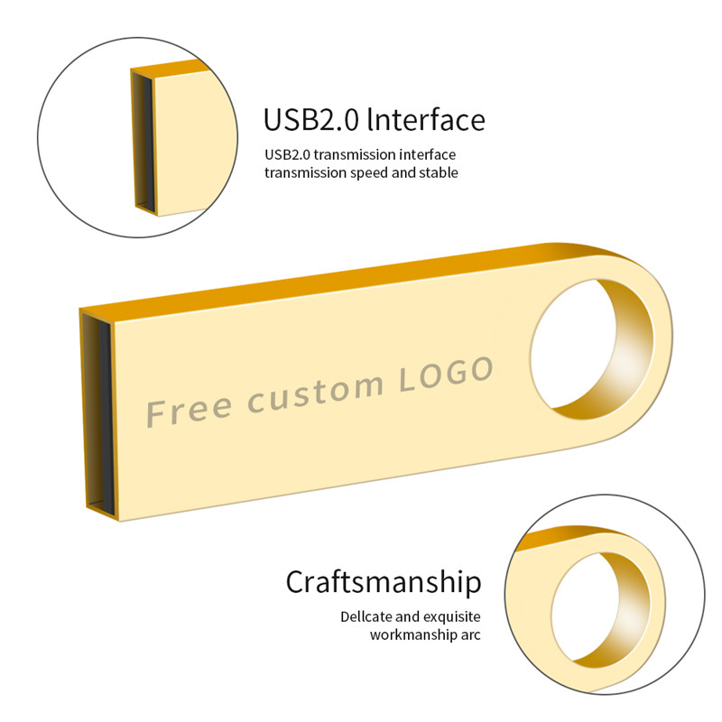 Image 4 - Usb flash drive keychain 16GB metal 2.0 pendrive 32GB pen drive 128GB 64GB 8GB 4GB usb stick High Speed flash disk free shipping-in USB Flash Drives from Computer & Office