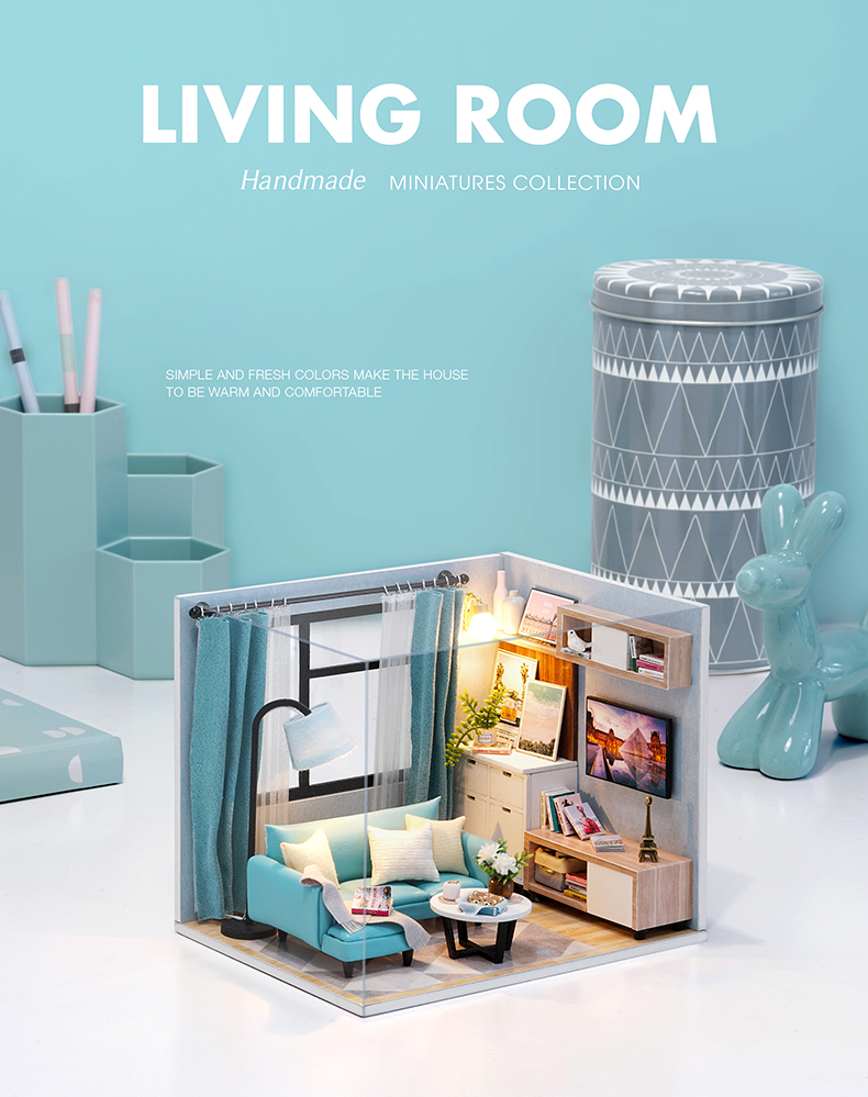 Corner of Living Room DIY Miniature Room Kit (H18-A)